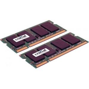 Crucial 4GB (2 x 2GB) 204-pin SODIMM DDR3 PC3-10600 Memory Module Kit for Mac
