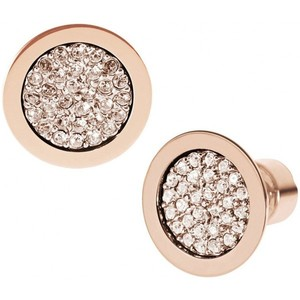 Michael Kors MKJ2743 Brilliance Rose Gold Pave Stud Earrings