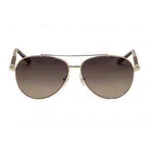 f5b29ae28a Montblanc Mens 518S 518 S 16V Silver Wood Aviator Sunglasses 60mm