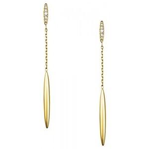 Michael Kors MKJ4497 Gold-Tone Pavé Matchstick Drop Earrings - 2.8 inch