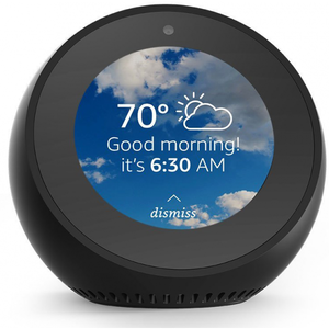 Amazon Echo Spot - Alexa-powered Alarm Clock with Built-in Camera & Wireless Speakers