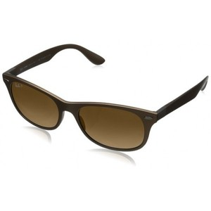 Ray-Ban ORB4207 6033T-555 Polarized Square Sunglasses Matte Brown