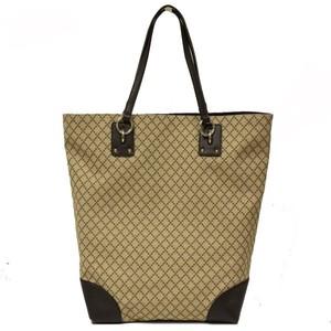 Gucci Diamante Canvas and Leather Large Business Portfolio Tote Bag