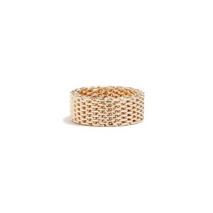 Guess Womens Gold-Tone Mesh Ring