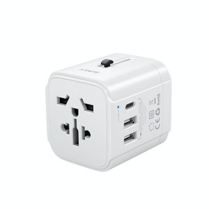 Aukey PA-TA01 Universal Travel Adapter With USB-C And USB-A Ports White