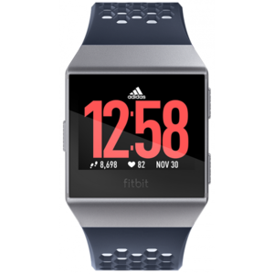Fitbit ionic Smartwatch Adidas Edition Ink Blue / Ice Gray / Silver Gray