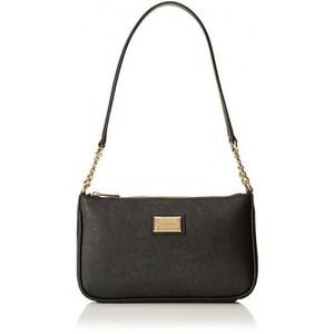 Calvin Klein Saffiano Demi Shoulder Bag Black/Gold