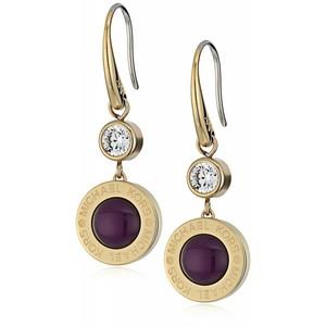 Michael Kors Logo Gold Drop Earrings