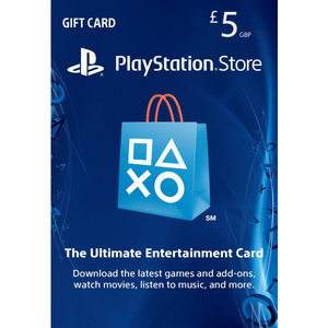Sony PlayStation Store 5£ PSN Gift Card - PS3/ PS4/ PS Vita UK Region [Digital Code]