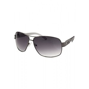 Guess Mens Aviator Gunmetal and Grey Gradient Lenses Sunglasses