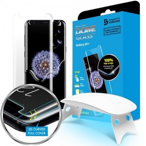 Galaxy S9 Plus Whitestone Dome Glass with UV Light and Easy Install Kit