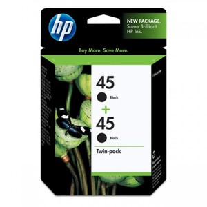 HP 45 2-pack Black Original Ink Cartridges (CC625AA)