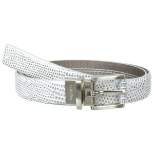 Calvin Klein Womens Metallic Lizard Reversible Belt