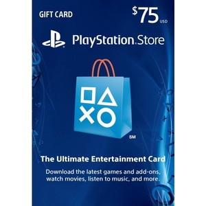 Sony PlayStation Store 75$ PSN Gift Card - PS3/ PS4/ PS Vita USA Region [Digital Code]