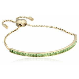 Michael Kors Core Gold-Tone Mint and Cubic Zirconia Slider Bangle Bracelet