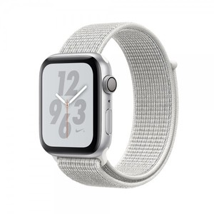 Apple Watch Nike+ Series 4 44mm GPS Silver Aluminum Case with Summit White Nike Sport Loop MU7H2