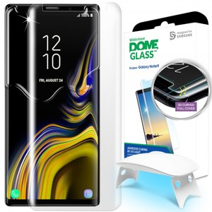Galaxy Note 9 Whitestone Dome Glass with UV Light & Easy Install Kit