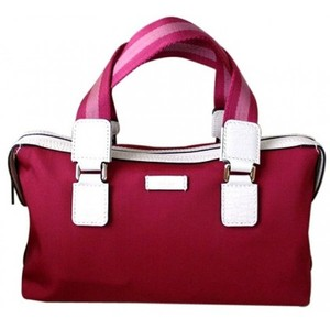 Gucci Boston Fuschia Handbag Bowling Bag