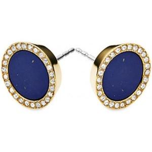 Michael Kors MKJ4251 710 Blue Lapis & Swarovski Gold Stud Earrings