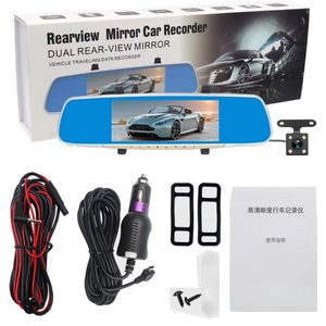 Car DVR Mirror 7 inch Touch Screen Front and Back Camera 1080p