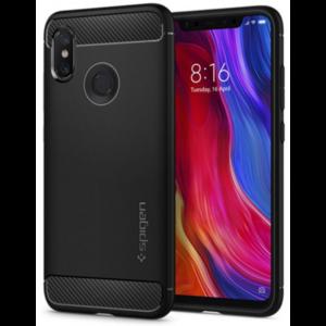 Spigen Xiaomi Mi 8 Spigen Case Rugged Armour Black
