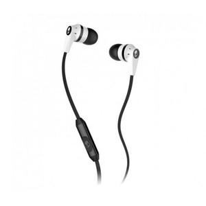Skullcandy Inkd 2.0 Earbud Headphones with Mic (White/Black)