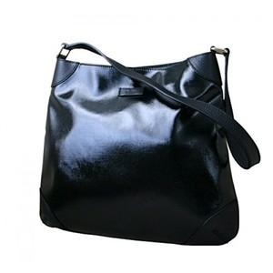 Gucci Black Leather Shoulder Bag Capri Handbag