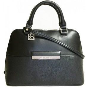 Calvin Klein Valerie Studio Dome Satchel Bag Handbag Purse Black