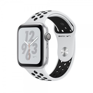 Apple Watch Nike+ Series 4 40mm GPS Silver Aluminum Case with Pure Platinum/Black Nike Sport Band MU6H2