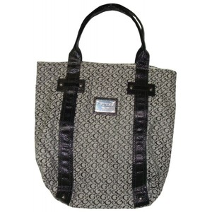 Guess Womens Purse Handbag Founders Tote Black/White Signature Print