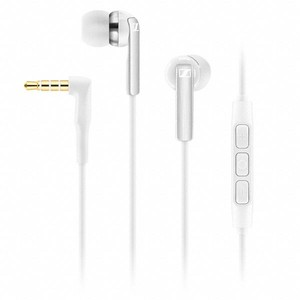 Sennheiser CX 2.00G Earbuds Headphones Integrated Mic (White)
