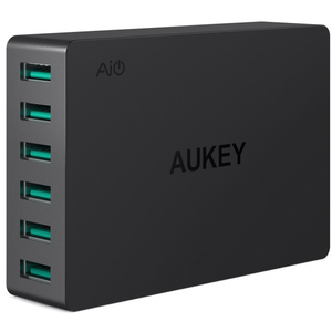 Aukey USB Charger with 6-Port 60W Charging Station