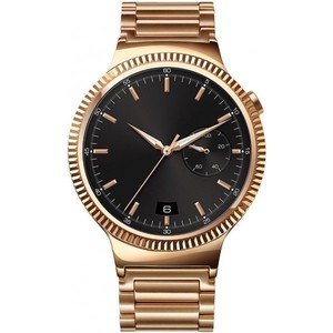 Huawei Watch Gold Plated Stainless Steel with Gold Plated Stainless Steel Link Band