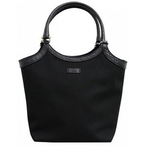 Gucci Black Canvas Guccissima Trim Tote Bag Handbag