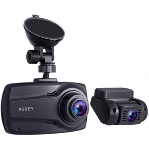 "Aukey 1080p Dual Dash Cams with 2.7"" Screen  Full HD Front and Rear Camera With Dual-Port Car Charger"