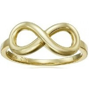 Gold Flashed or Rhodium Plated Sterling Silver Infinity Ring