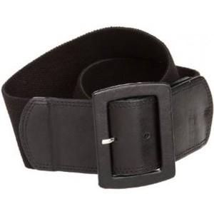 Calvin Klein Womens Linen Stretch Belt Color: Black