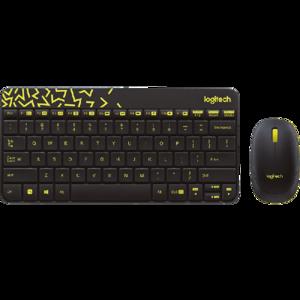 Logitech MK240 Nano Wireless Keyboard and Mouse Combo (BLACK / YELLOW)
