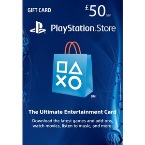 Sony PlayStation Store 50£ PSN Gift Card - PS3/ PS4/ PS Vita UK Region [Digital Code]
