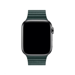 Apple 44mm Forest Green Leather Loop Band - Large