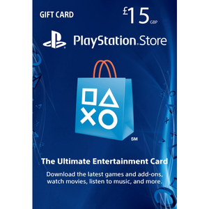 Sony PlayStation Store 15£ PSN Gift Card - PS3/ PS4/ PS Vita UK Region [Digital Code]