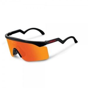 Oakley Razor Blade Heritage Collection Sunglasses Frame Color: Black Lens Color: Fire Iridium