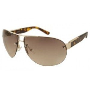 Guess Mens Sunglasses - 6782 / Frame: Gold with Tortoise Temples Lens: Brown Gradient