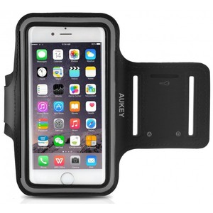 Aukey iPhone 6 6S Running Sport Armband with Key Slots   Sweatproof Armband for Running  Cycling  Fitness Activities and Fit other Smartphones Below 4.7 inches (PC-T4)