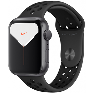 Apple Watch Series 5 44mm GPS Space Gray Aluminum Case with Anthracite/Black Nike Sport Band MX3W2