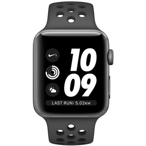 Apple Watch Series 3 42mm Nike+ Space Gray Aluminum Case with Anthracite/Black Nike Sport Band GPS MTF42