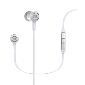 JBL Synchros S100 Advanced In-Ear Stereo Headphones with Universal Remote  White