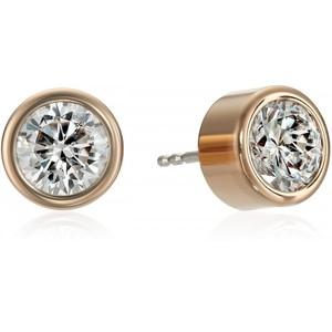 Michael Kors Rose Gold-Tone Clear Stud Earrings