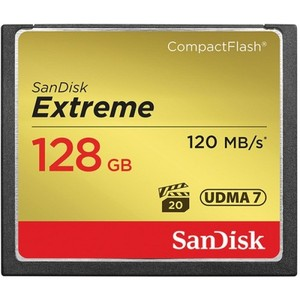 SanDisk 128 GB Extreme CompactFlash Memory Card