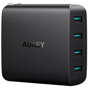 Aukey USB Wall Charger with 4-Ports 40W/8A Output & Foldable Plug